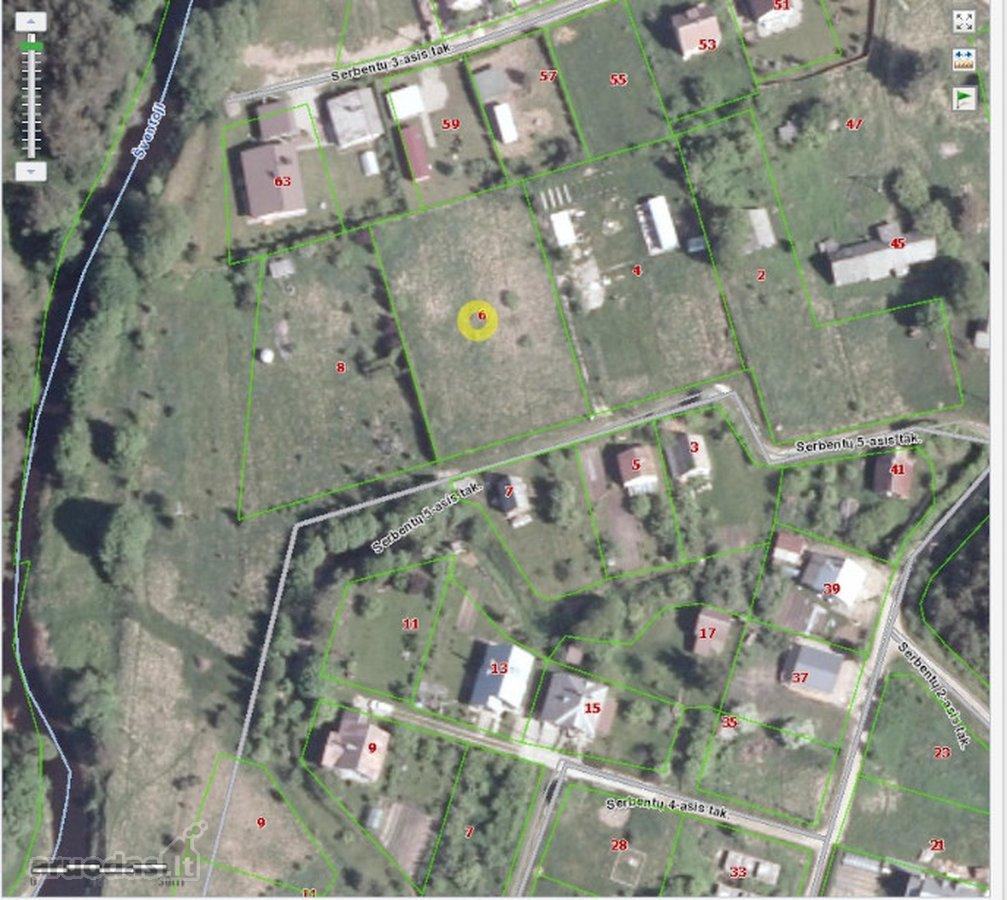 Palanga, Serbentų 5-asis tak., namų valdos paskirties sklypas