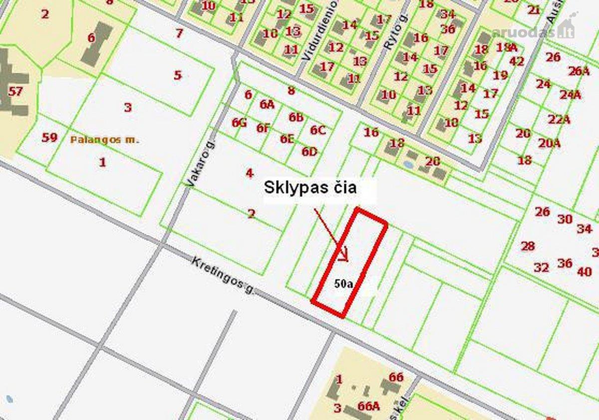 Palanga, Kretingos g., daugiabučių statybos paskirties sklypas