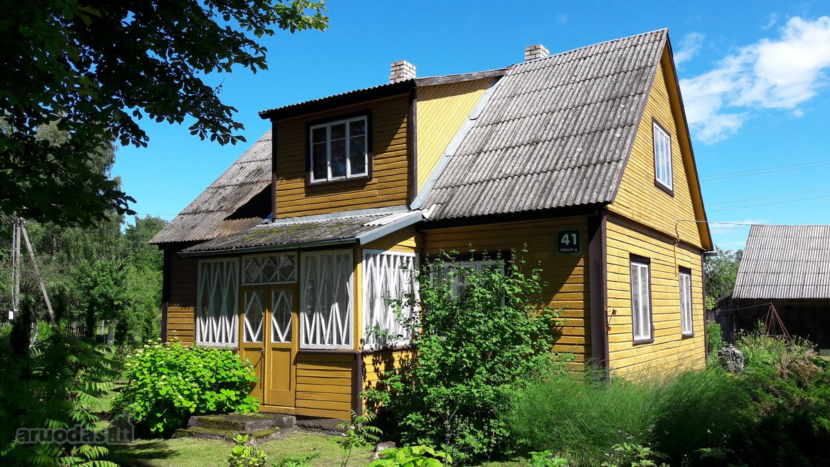 Šiaulių r. sav., Bazilionų mstl., Vytauto g., wooden farmstead