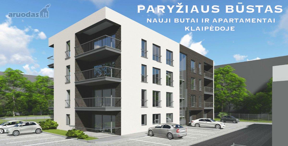 Klaipėda, Centras, Paryžiaus Komunos g., 2 kambarių butas