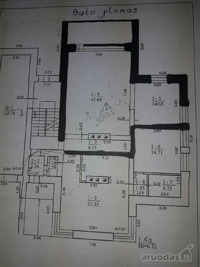 Vilnius, Užusieniai, Degučių g., 4 kambarių butas