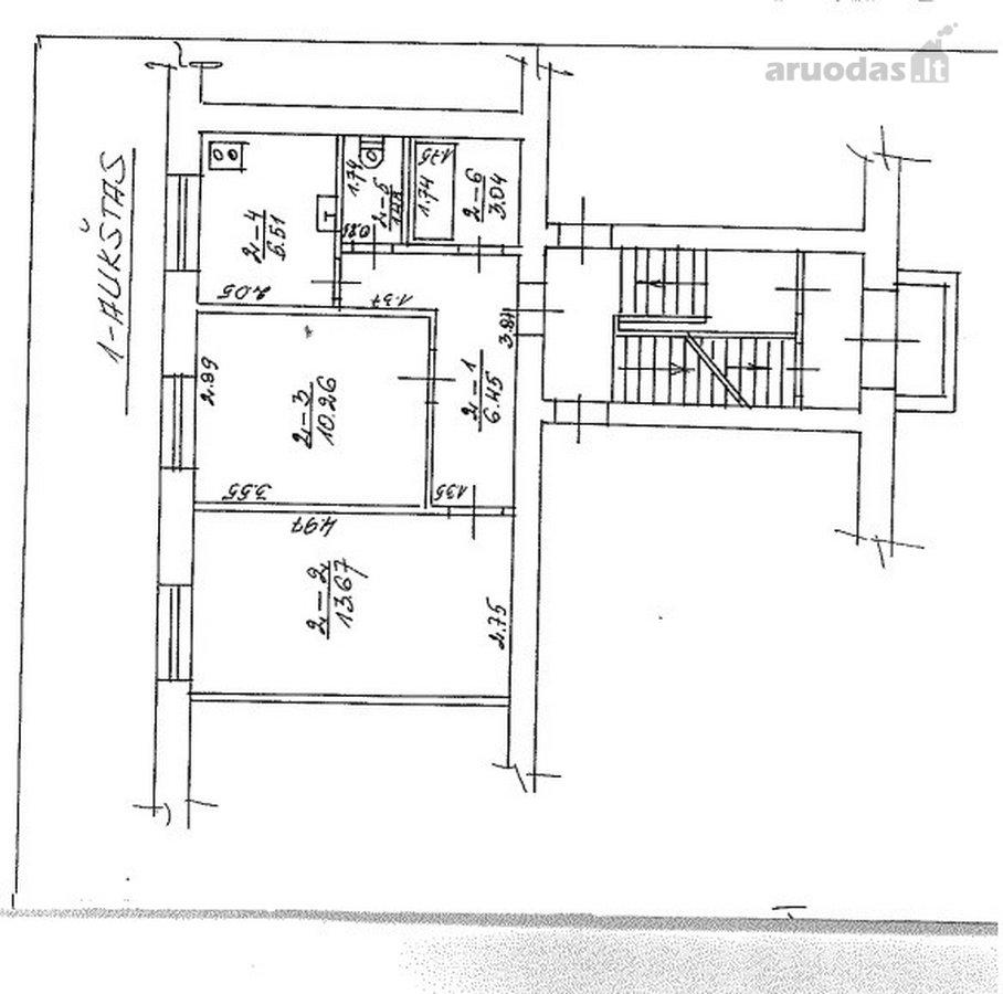 Panevėžys, Centras, Liepų al., 2 kambarių butas
