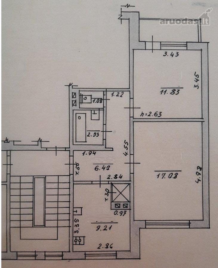 Vilkaviškio r. sav., Kybartų m., Darvino g., 2 kambarių butas