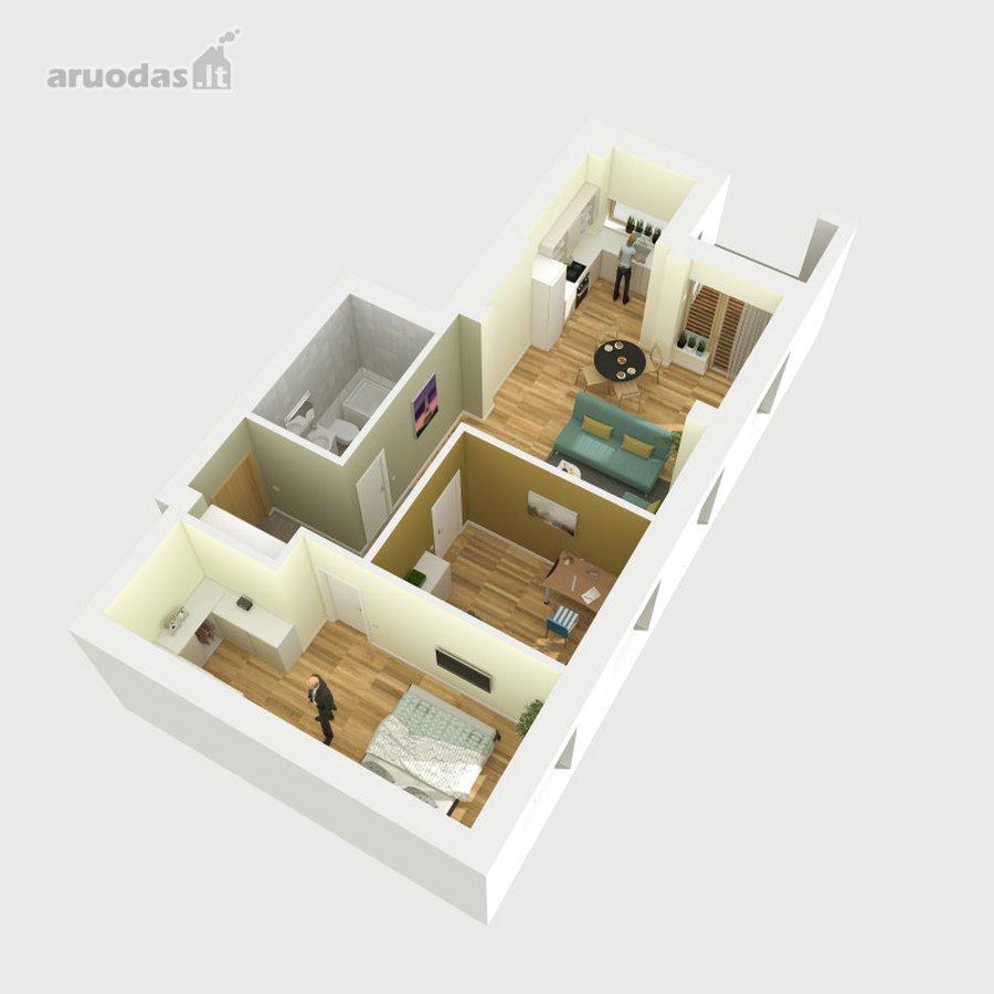 Vilnius, Antakalnis, Nemenčinės pl., 3 kambarių butas