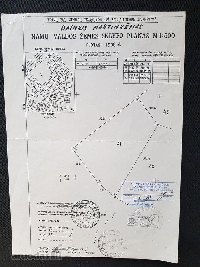 Trakų r. sav., Senųjų Trakų k., residential purpose vacant land