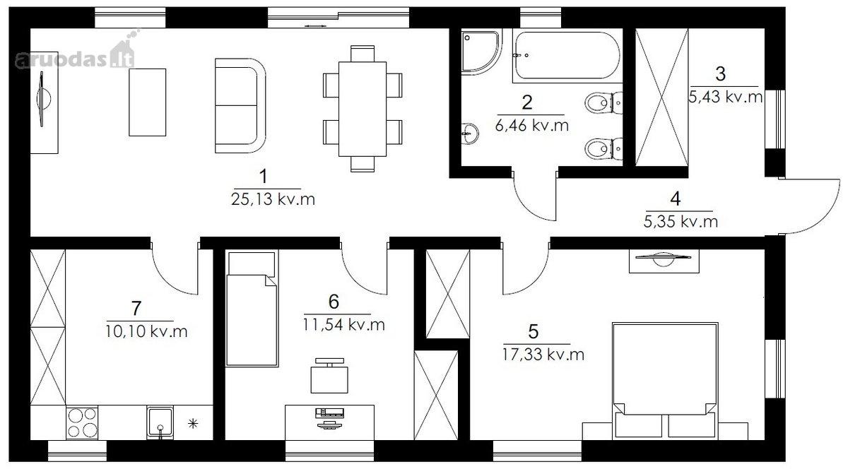 Vilnius, Santariškės, Skersinės Sodų 3-oji g., 4 kambarių butas