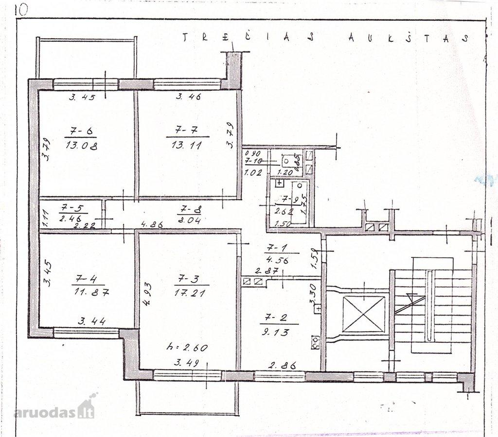 Kaunas, Eiguliai, Ukmergės g., 4 kambarių butas