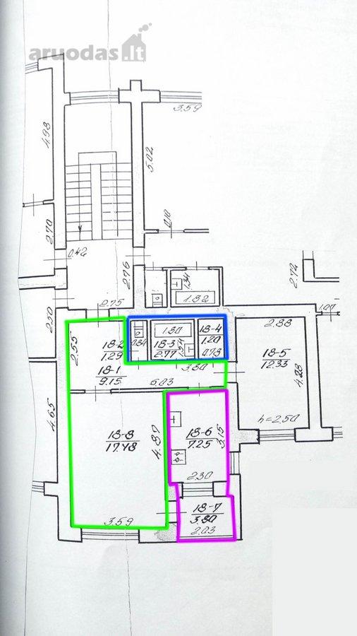 Parduodamas dviejų kambarių butas 55 kv.m.