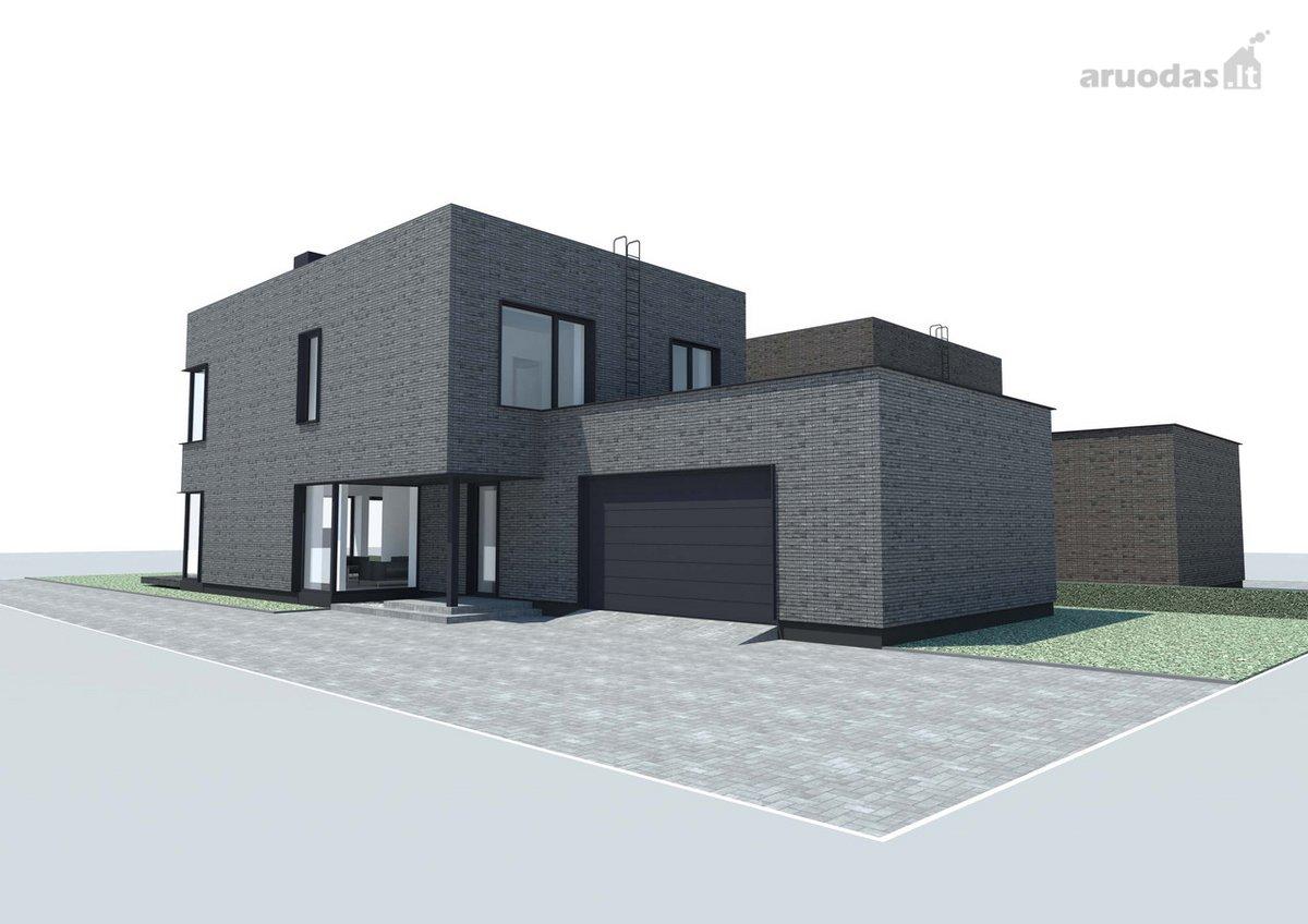 Modernus Namas Su Garažu Prestižinėje