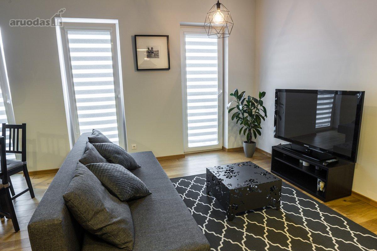 Modernūs vieno miegamojo apartamentai yra