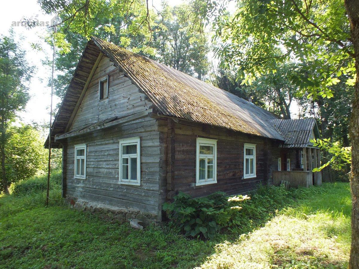 Anykščių r. sav., Migdoliškio k., rąstinė sodyba