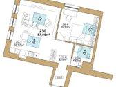 Parduodamas erdvus 2-3 kambarių butas, su