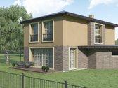 Parduodami du modernūs A klasės namai