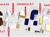 Parduodamas 3 kambarių butas Nemenčinės m.