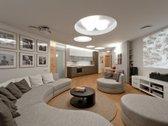 Nuomojamas unikalus trijų kambarių butas